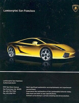 2004 Lamborghini Gallardo Magazine Advertisement wx8640-QPLKAI