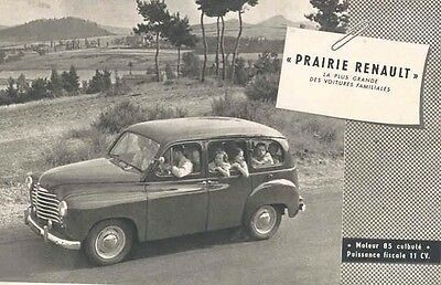 1952 Renault Prairie Station Wagon Brochure French wx876-6238NV
