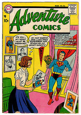Adventure Comics #246 3.0 Off-White Pages Silver Age Superboy