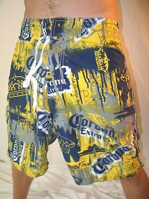 Corona Extra Beer Mens Dudes Surf Surfer Pool Beach Boardshorts Swim Wear