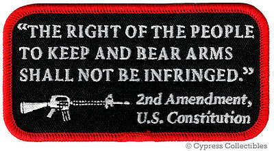 2nd AMENDMENT PATCH US CONSTITUTION GUN RIGHTS embroidered iron-on AR-15 RIFLE