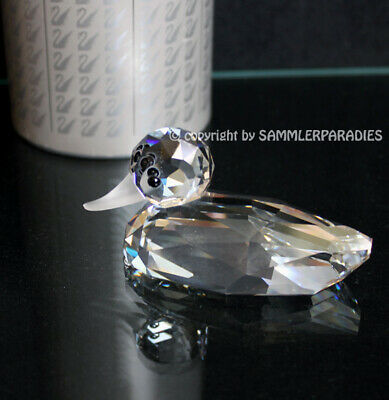 EDLE original SWAROVSKI Figurine Silver Crystal Kreation ENTE  8,5 cm !