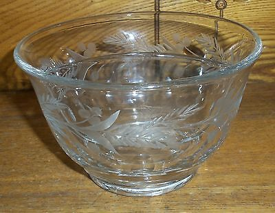 Etched Glass Divided Bowl - Heisey
