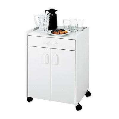 Safeco Mobile Refreshment Center, 1-Shelf, 23 x 18 x 31, Gray, EA - SAF8954GR