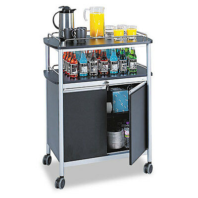 Safeco Mobile Beverage Cart, 33-1/2 x 21-3/4 x 43, Black, EA - SAF8964BL