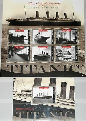 UGANDA 2012 100th Ann Sinking Untergang TITANIC Disaster Schiff Ship set MNH