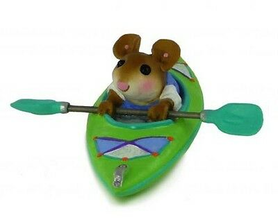 DRIFTING ALONG by Wee Forest Folk, WFF# MS-22, Lime Green Kayak
