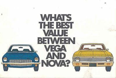 1971 Chevrolet Vega Nova vs Maverick Sales Brochure wn5368-X6ZZ6U