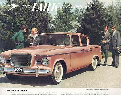 1959 Studebaker Lark 4 Door Sedan Brochure Canada wn6232-IZMSON