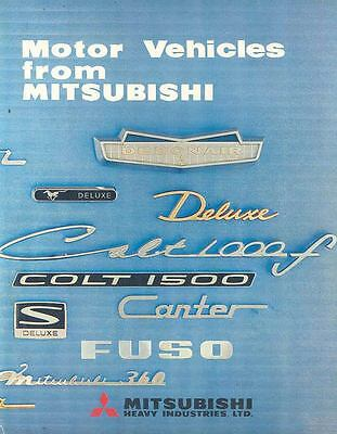 1967 Mitsubishi Car Jeep Truck Bus Brochure Poster wn8531-IX6OMO