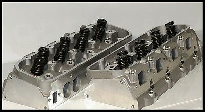 BIG BLOCK BBC CHEVY 454 496 300cc OVAL PORT ALUMINUM HEADS ASSEM. BBC-OVAL-274