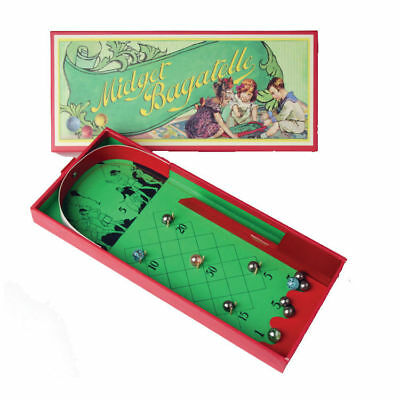 New Traditional Classic  Mini Midget Bagatelle Board Table Game With Marbles Hom