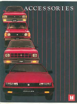 1984 Isuzu Trooper I-Mark Impulse P'UP Pickup Truck Accessories Brochure ws3641