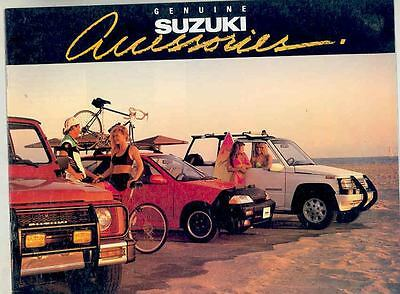 1990 Suzuki Sidekick Samurai Swift Accessories Brochure ws4198-ASJYHG