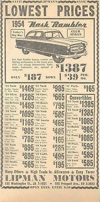 1954 Nash Rambler Maine Dealer Newspaper Ad  wl1304-4OFQQN