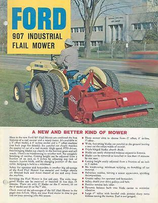 1963 Ford 2000 Tractor & 907 Mower Brochure wl2865-T1P29C