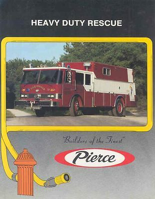 1980 Pierce Rescue Fire Truck Brochure Braidwood Frisco wl304-9HFJSG