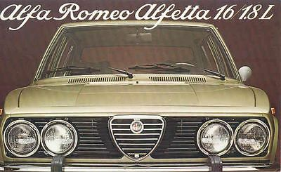 1978 Alfa Romeo Alfetta 1.6 & 1.8L Sedan Brochure Dutch wl4134-LY1JJF