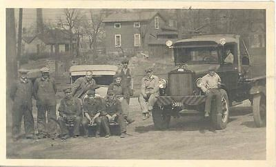1931 White Truck & Ford Model A Real Photo Postcard  wl6143-YEAABM