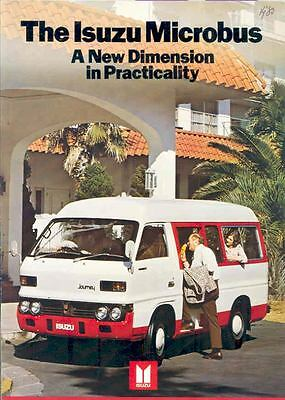 1980 Isuzu Micro Bus Station Wagon Sales Brochure wl7475-5W2631