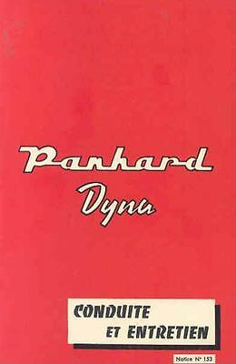 1958 Panhard Dyna Saloon & Cabrio Owner's Manual French wk1419-F58L1R