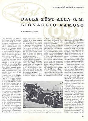 1906 1924 OM & Zust History Article Italy wk9409-BUOHWN