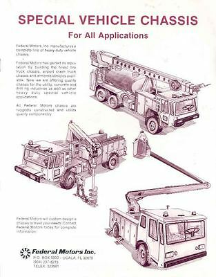 1985 Federal Airport Crash Fire Truck Brochure wj1619-92GJ2V