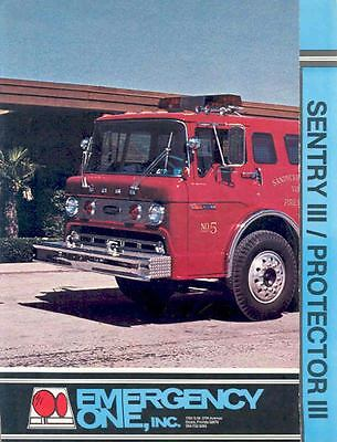1977 Emergency One Fire Truck Brochure Sandy Creek  wj2340-N6HZXN