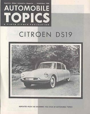 1956 Citroen DS19 US Brochure wj344-OXZTV3