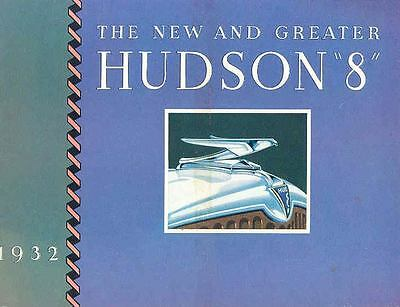 1932 Hudson Greater 8 Pacemaker Brochure  wj4211-45P5YX