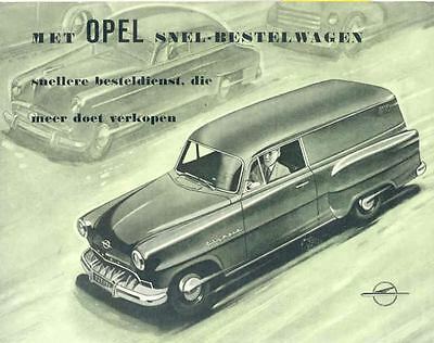 1954 Opel Olympia Sedan Delivery Brochure Dutch  wj6353-EKR8MV