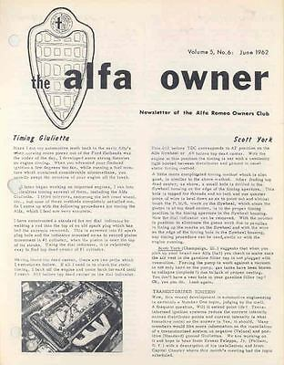 June 1962 Alfa Romeo Club Magazine Volume 5 #6  wj7610-C7FTO8