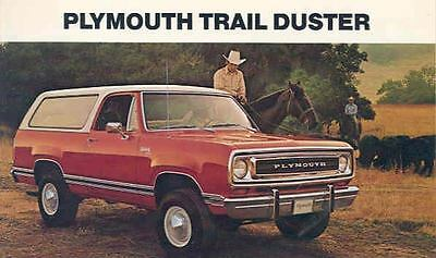 1974 Plymouth Trail Duster SUV Large Factory Postcard wi01-YWNTK1