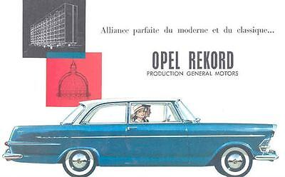 1961 Opel Rekord Brochure French wi1716-1W16TQ