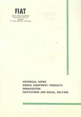 1961 Fiat History Factory Production Prestige Brochure  wi4809-3YELQT