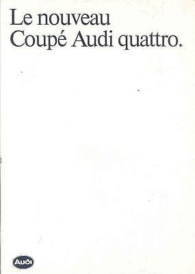 1985 Audi Coupe Quattro Brochure Poster French  wi5235-VEAXAX