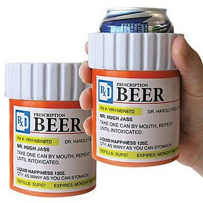 ( 2 ) BEER PRESCRIPTION Drink Soda Can Beer Big Mouth Toys Insulated Foam