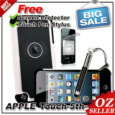 AU Heavy Duty Shock Proof Case White For Apple iPod Touch 5 5th Gen