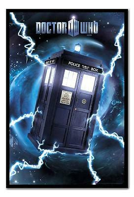 Framed Doctor Who Tardis Metallic Poster Ready To Hang - Choice Of Frame Colours
