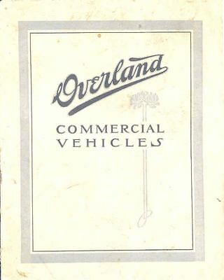 1911 Willys Overland 37 Delivery Car & 1 Ton Brochure wh8918-KT9ENT