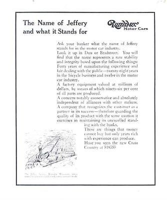 1912 1913 ? Rambler Cross Country Ad Proof Lot wg1364-5NM3BM