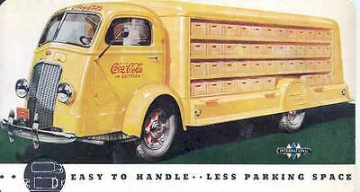 1939 International COE Coca Cola Truck Factory Postcard wg3654-L15EJN