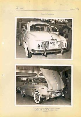 1956 Renault Dauphine ORIGINAL Factory Photo Lot  wg4747-RPX9DH
