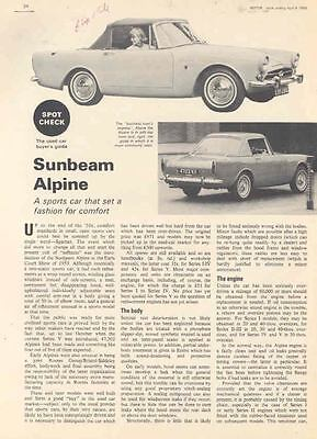 1960 thru 1966 Sunbeam Alpine Magazine Article  wg4762-OHGWYS