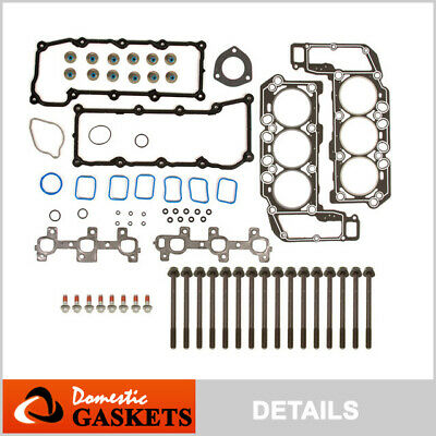 02-05 Dodge Ram Durango Dakota Jeep Liberty 3.7L MLS Head Gasket Set+Bolts VIN K
