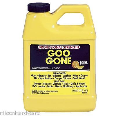 6 Pk Citrus Liquid Goo Gone 1 Quart Cleaner Dissolver GZ92
