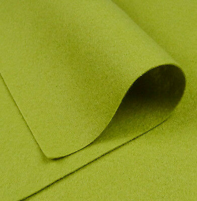 Woolfelt Apple Green ~ 22cm x 90cm / quilting wool blend felt fabric light pea