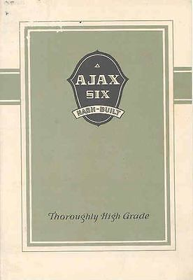 1925 1926 Nash Ajax Six Sales Brochure wf6689-1JL27L