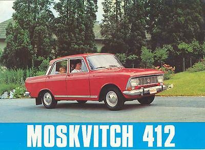 1974 Moskvitch 412 Sales Brochure French Russia wf7696-KUQ5KW
