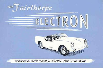 1959 Fairthorp Electron Kit Car Brochure CoventryClimax wf8113-VG8JWE